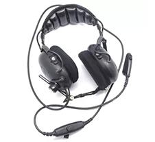 摩托罗拉带消噪旋转臂麦克风的中型双耳罩头戴式耳机AZRMN4019