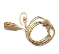摩托罗拉带有麦克风/PTT组合的双线监听米色耳机AZRMN4022